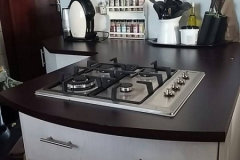modern kitchen gas stove