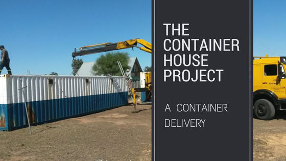 shipping container house delivery of containers