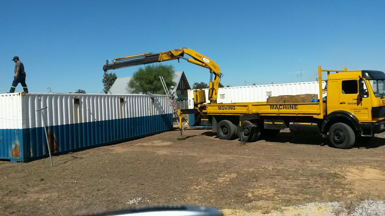 offloading the second shipping container