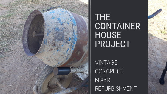 vintage concrete mixer refurbishment