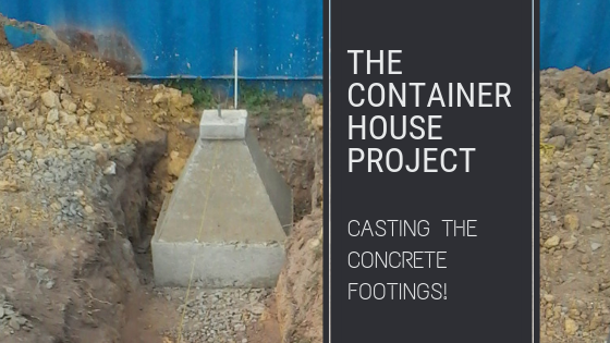 casting concrete footings