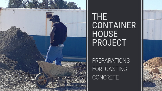 preparations for casting concrete header