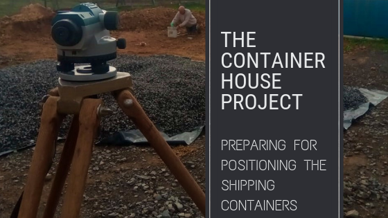 preparing for positioning the shipping containers header